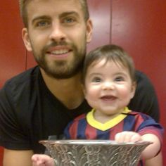 First Camp Nou experience with the Spanish Super Cup. Gerard Pique from Barcelona FC wwith his son Milan. Camp Nou, Messi Neymar Suarez, Michael Jordan, Shakira Baby, Milan Pique, Shakira And Gerard Pique, Shakira Mebarak, Dad Baby, Love You Baby