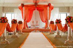 indian wedding ceremony mandap fabric draped http://maharaniweddings.com/gallery/photo/7956