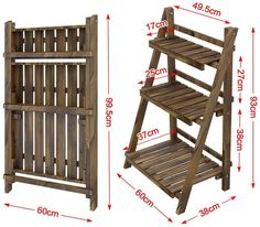Diy Wood Projects, Woodworking Projects, Outdoor Wood Projects, Woodworking Plans, Diy Plant Stand, Outdoor Plant Stands, Wooden Plant Stands Indoor, Regal Display, Wood Shelving Units