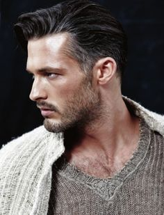Sexy sleek hairstyle for men