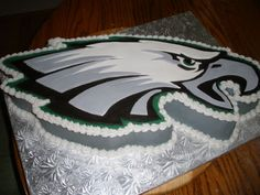 Cool Philadelphia Eagles Cake ... If they go to the SuperBowl... Ya tu sabes!! LoL