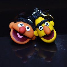 Bert & Ernie earrings  Sesame street by Zjakazumi on Etsy, $15.00