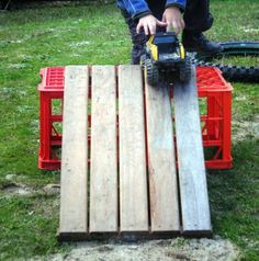Building ramps - wonder if I can get some crates from the grocery store?
