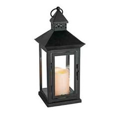 "LED Candle Lantern Timer Indoor Outdoor Light 6"" x 14"" Flameless Decor Hang Sit"