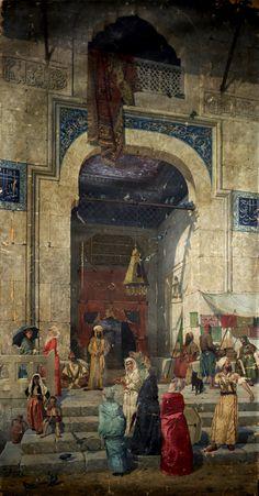 At The Mosque Door by Osman Hamdi Bey