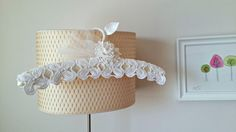 Wedding Dress Hanger  With Vintage Handcrocheted by WHITEStardust, $32.00