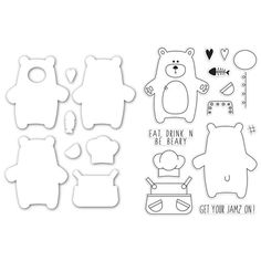 Simon Says Stamps and Dies BEAR NECESSITIES setBN232 Create Joy at Simon Says STAMP!