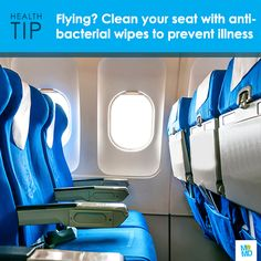 #TipTuesday: Wipe down your plane seat with antibacterial wipes to prevent illness when traveling. You won't care too much about looking OCD when you realize that everything from fecal matter to Methicillan-resistant Staphylococcus aureus (MRSA) bacteria has been found hiding in the passenger cabins of planes.   Antibacterial wipes are TSA friendly since they're not a liquid, and you can use them to clean your hands, as well as wipe down your seat, arm rests, tray table, and especially your…