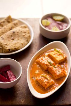 paneer butter masala – soft succulent paneer – cottage cheese cubes in a creamy tomato based gravy.
