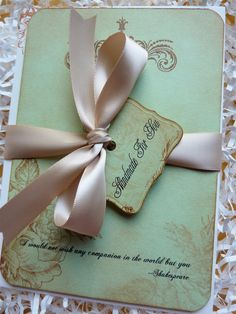Shabby Chic Wedding Invitation and RSVP Vintage Double-Sided Sample