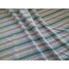Jersey rayures gris verts bleu 3.92€/m