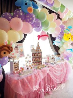 A beautiful Easter Tsum Tsum Party! See more party ideas at CatchMyParty.com