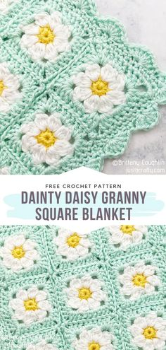 These free crochet patterns for Gorgeous Flower Baby Blankets will surely inspire you to crochet some stunning gifts. Crochet Flower Squares, Crochet Sunflower, Crochet Daisy, Baby Afghan Crochet, Afghan Crochet Patterns, Knitting Patterns, Knit Crochet, Free Crochet Flower Patterns, Crochet Baby Blankets