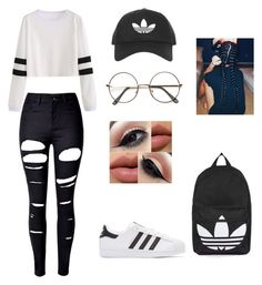 """Adidas"" by pierreberlande on Polyvore featuring WithChic, adidas Originals and Topshop"