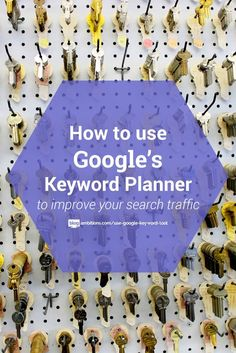 How to use Google's keyword tool to SEO your blog posts.