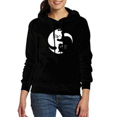 Cat Ying Yang Hoodie - So Cool! Vintage Soft, Online Gifts, Hoodies, Sweatshirts, Muslim, Funny Cats, Cat Lovers, Cool Things To Buy, Warm