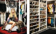Hey Miss Fergie!  Looking mighty stylish in the closet of dreams.