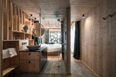 Idea 2581825: Zallinger by noa* network of architecture in Alpe Di Siusi, Italy Cabin Chic, South Tyrol, Design Hotel, Architecture Photo, Elle Decor, Cozy House, Hardwood Floors, Dark Hardwood, Ceiling Lights