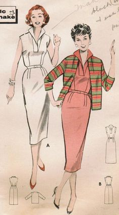 1950s Butterick 8492 Vintage Sewing Pattern by midvalecottage, $12.00