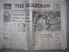 newspaper 1986 | Guardian newspaper dated 17th January 1986