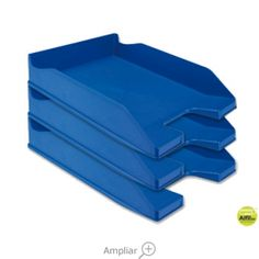 BANDEJA SOBREMESA PLASTICO Q-CONNECT AZUL OPACO Color Azul, Tray, Htm, Dessert Tray, Shopping, Trays, The Office, Workbenches, Desks