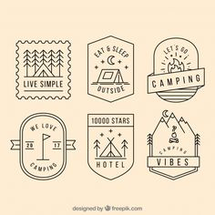 More than a million free vectors, PSD, photos and free icons. Exclusive freebies… More than a million free vectors, PSD, photos and free icons. Exclusive freebies and all graphic resources that you need for your projects Badge Design, Icon Design, Design Web, Logo Branding, Branding Design, Camp Logo, Logo Minimalista, Retro Poster, Graphic Design Inspiration