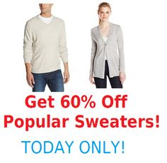 Get 60% Off Popuar Sweaters! TODAY ONLY! (Levi, Polo, Dockers & MORE!)