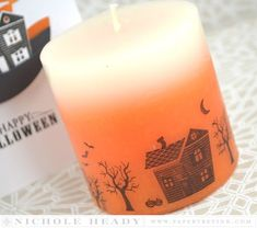 Haunted Manor Candle by Nichole Heady for Papertrey Ink (August 2015)