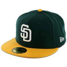 92ac009f03b New Era 59Fifty San Diego Padres 2 Tone Fitted Dark Green