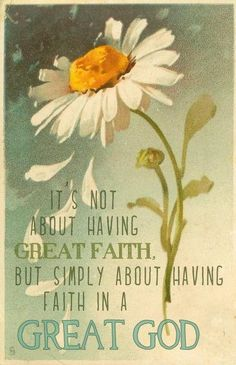 """So true. Our faith cannot be measured by our standards; therefore, there is no """"great"""" faith. It's the same jump for anybody to believe in the unseen and put it all in the hands of God. Faith Quotes, Bible Quotes, Images Bible, Motivation Positive, Faith In God, Strong Faith, Spiritual Inspiration, Way Of Life, Words Of Encouragement"""
