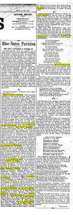 En 1894, Proust a vingt-trois ans et n'a pas encore écrit grand chose, à part quelques articles dans une revue de collège, puis dans « Le Banquet » une autre revue montée avec ses amis (dont Léon Blum) et qui ne paraîtra que pendant un an (1892-1893)....