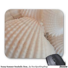 Sunny Summer Seashells. Romantic, Exotic Tropical Mouse Pad