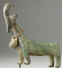 Iran, Luristan, bronze statue of a goat ca 1000 BC.