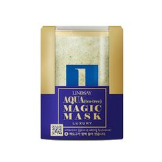 Lusury Magic Mask - Aqua.  Mix the powder and liquid together until it forms a creamy mask.  After cleansing and toning, apply the mask to your face and let it dry in place, then peel off.  Definitely falls under skincaretainment but also very effective skin care!