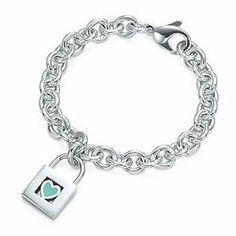 Tiffany Lock and Heart Chain Bracelet