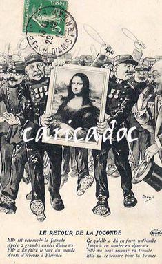 La Joconde Mona Lisa - c a r i c a d o c