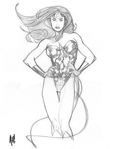 Adam Hughes Wonder Woman Comic Art