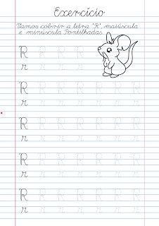 Atividade Pontilhadas para Cobrir: Atividade Letra R pontilhada para imprimir English Worksheets For Kindergarten, Alphabet Writing, Kids Hands, Printable Worksheets, Learning Spanish, Learning Activities, Lettering, Reading, Letter R Activities
