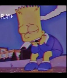bart simpson edit with vhs filter