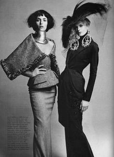 Christian Dior Haute Couture. Photograph by Patrick Demarchelier.  Harper's Bazaar (Oct 1997)