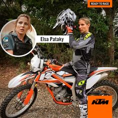 Elsa Pataky, rápida y furiosa en su #KTM. ¿Reconoces qué modelo es? #KTMRules.