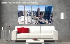 Calgary canvas art prints large wall art black by CanvasConquest