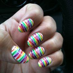 Rainbow zebra! Happy :)