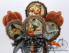Halloween Wands With Really Reasonable Ribbon and Crafty Secrets – Polly's Paper Studio Halloween Shadow Box, Halloween Tags, Halloween Banner, Halloween Ornaments, Halloween Prints, Holidays Halloween, Halloween Decorations, Halloween 2016, Halloween Party