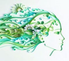 How incredible is this, check out her other quilled creations!