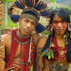 Kayapo Tribe, Amazon, Brazil,