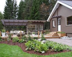 Compost, Cosy, Terrace, Pergola, Cottage, Backyard, Landscape, House Styles, Outdoor Decor