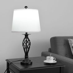 Gymax 3-Piece Lamp Set 2 Table Lamps 1 Floor Lamp Fabric Shades Living Room Bedroom for Sale in Yona, GU - OfferUp Table Lamps For Bedroom, Black Table Lamps, Table Lamp Sets, Bedside Tables, Console Table, Modern Lamp Sets, Living Room Vanity, Touch Lamp, Desk And Chair Set