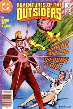 Adventures of the Outsiders 44 dc comic book covers