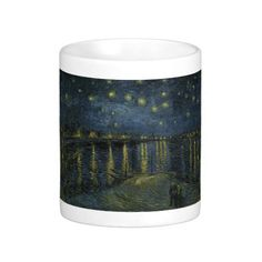 Starry Night Over the Rhone by Vincent Van Gogh Mugs